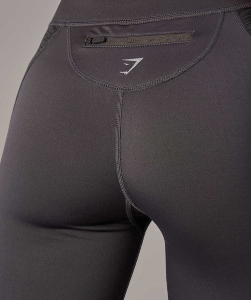 Gymshark Winter Running Leggings - Charcoal 4