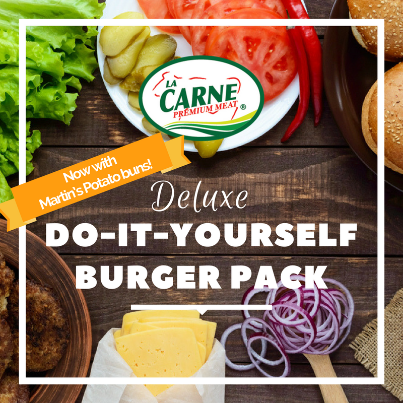 Deluxe do it yourself burger pack la carne premium meat deluxe do it yourself burger pack solutioingenieria Images