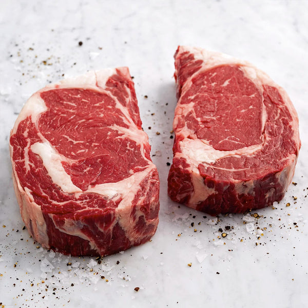 Black Angus Ribeye Steaks for 2