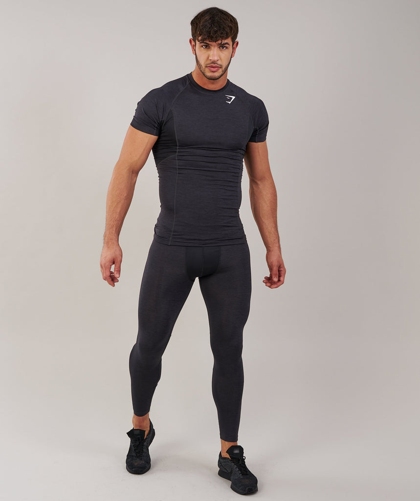 Gymshark Element Baselayer Leggings - Black Marl 1