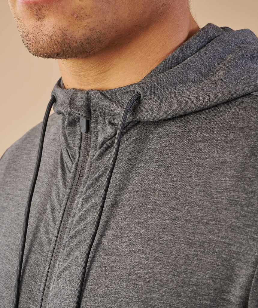 Gymshark Enlighten Zip Hoodie  - Charcoal Marl 6