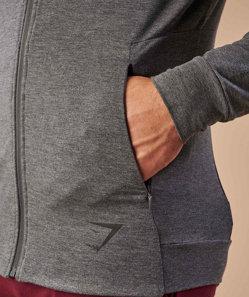 Gymshark Enlighten Zip Hoodie  - Charcoal Marl 4