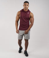 Gymshark Drop Arm Sleeveless Hoodie - Port 7