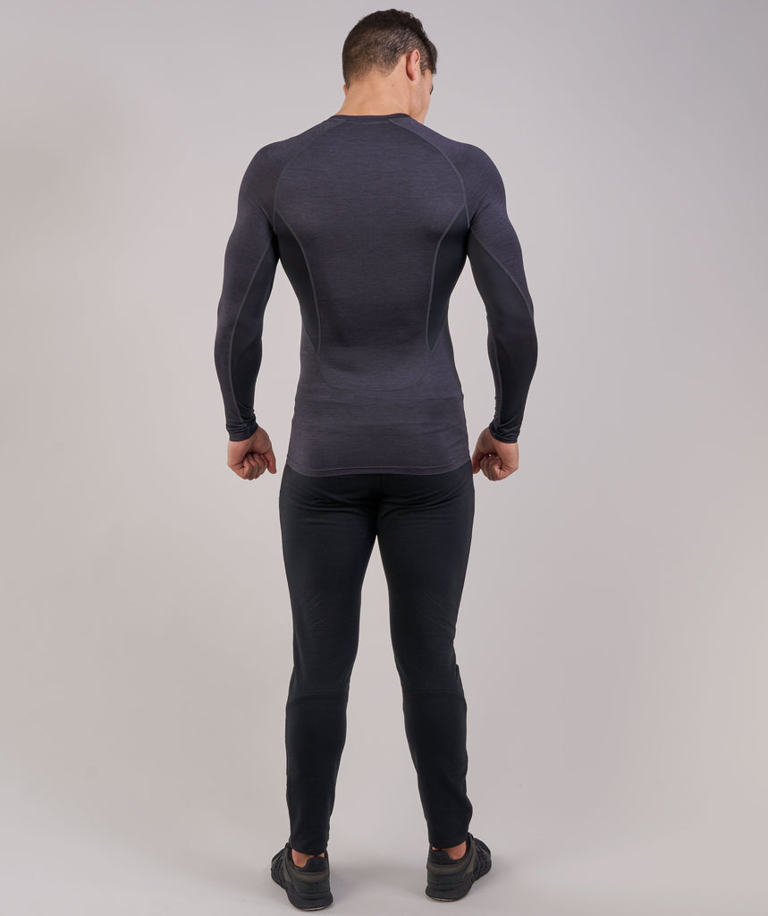 Gymshark Element Baselayer Long Sleeve Top - Black Marl 2