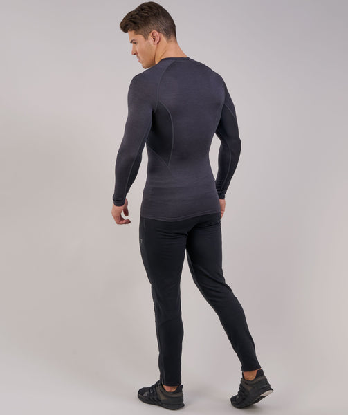 Gymshark Element Baselayer Long Sleeve Top - Black Marl 3