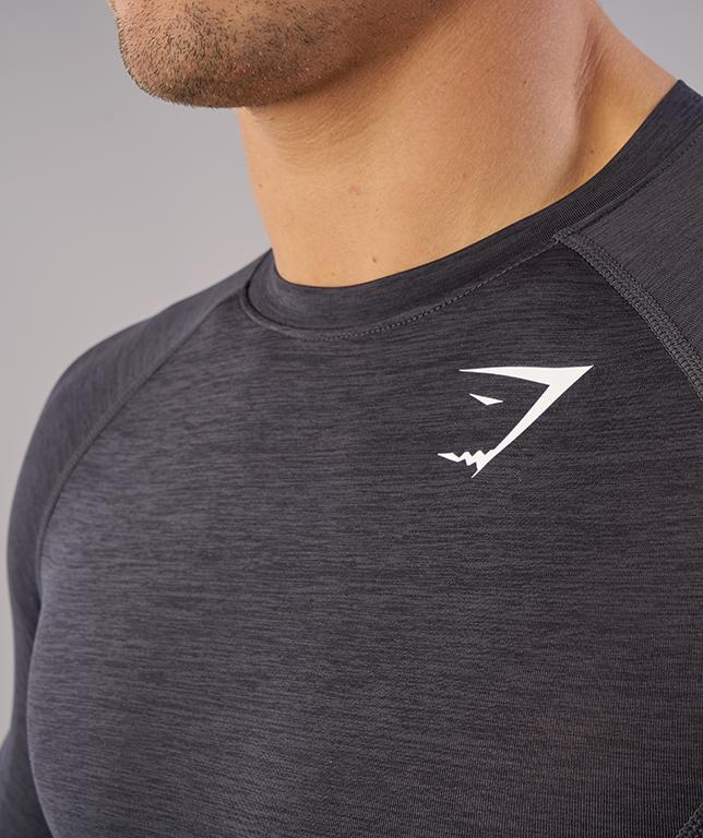 Gymshark Element Baselayer Long Sleeve Top - Black Marl 6