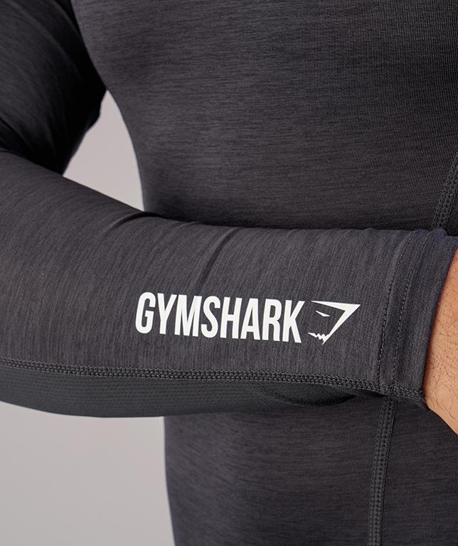 Gymshark Element Baselayer Long Sleeve Top - Black Marl 5