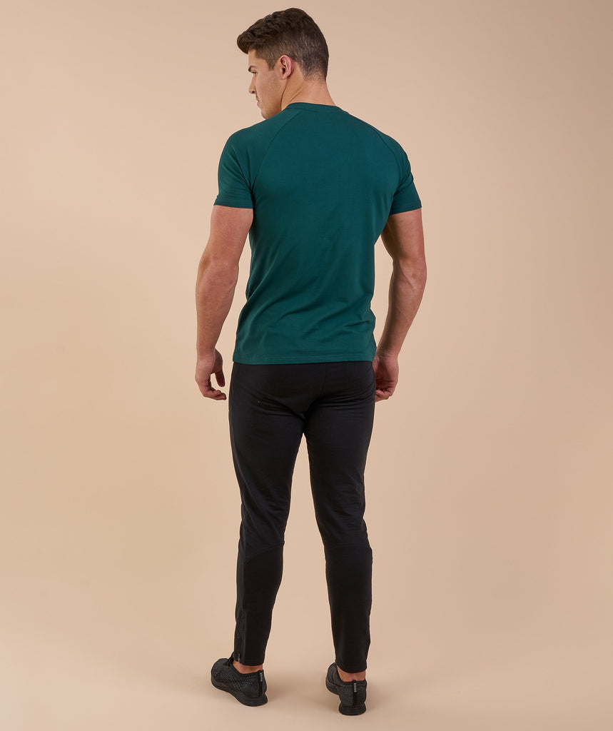 Gymshark Apollo T-Shirt - Forest Green/White 2