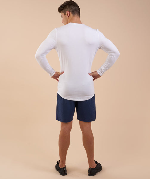 Gymshark Solace Longline Long Sleeve T-shirt - White 1