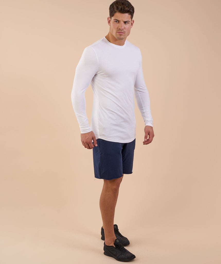 Gymshark Solace Longline Long Sleeve T-shirt - White 5