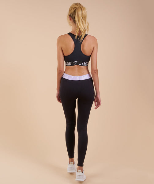 Gymshark Fit Leggings - Black/Pastel Lilac 1