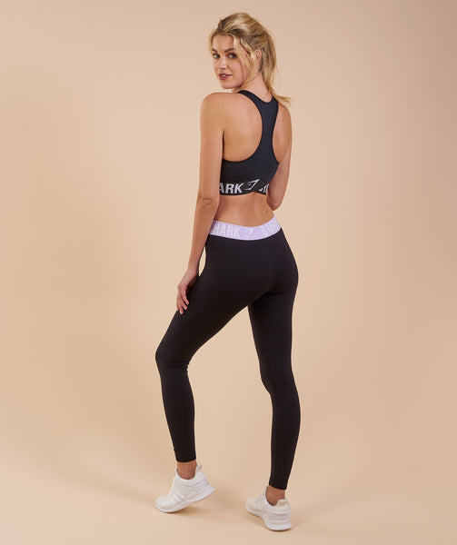 Gymshark Fit Leggings - Black/Pastel Lilac 3