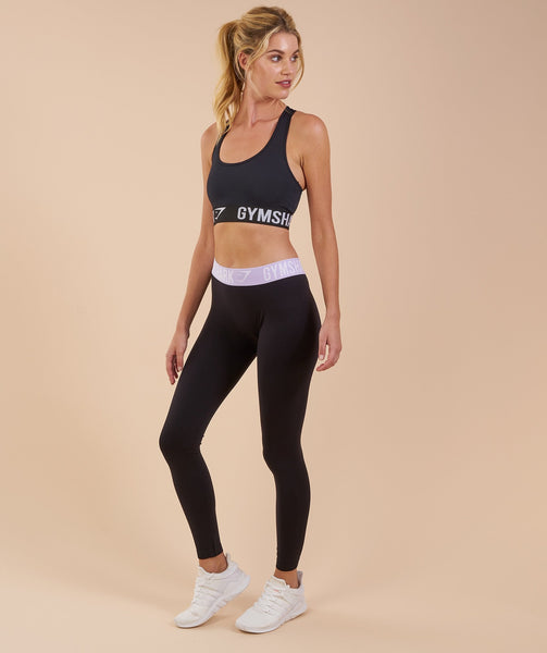 Gymshark Fit Leggings - Black/Pastel Lilac 4