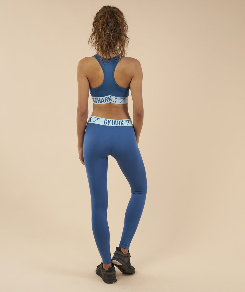 Gymshark Fit Sports Bra - Petrol Blue/Pale Turquoise 2