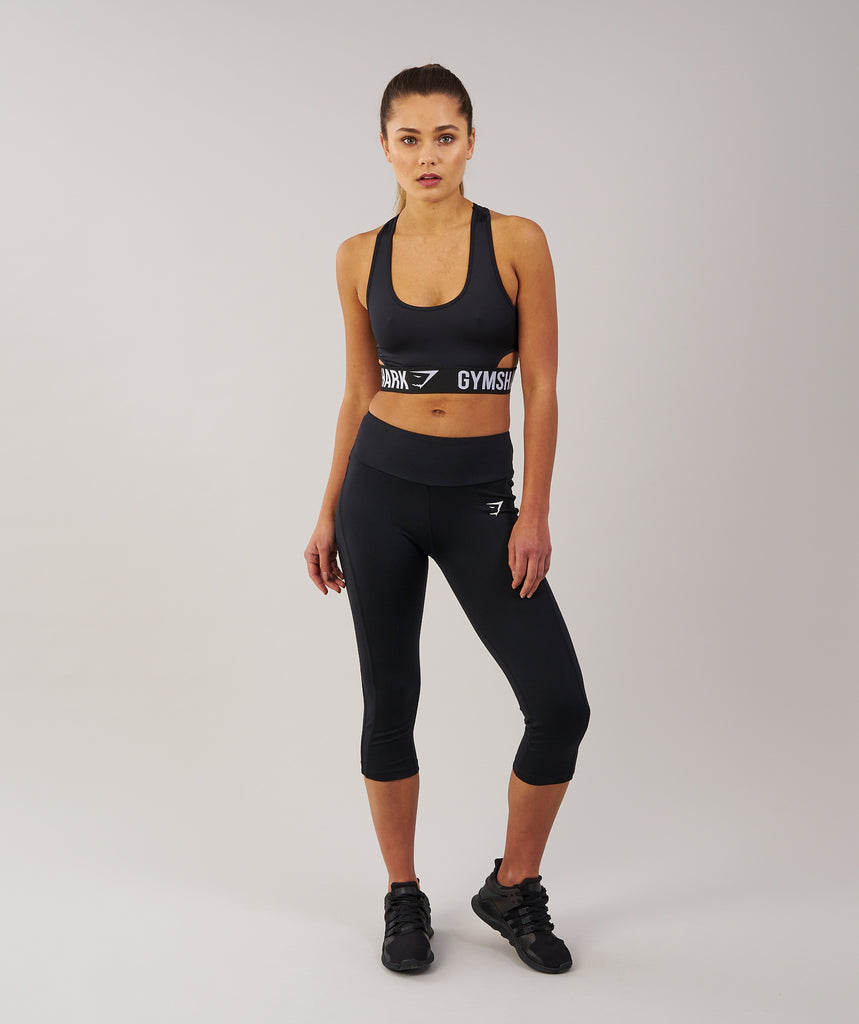 Gymshark DRY Sculpture Cropped Leggings - Black