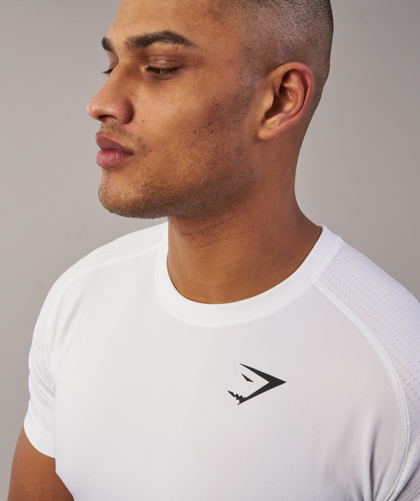 Gymshark Ghost T-Shirt - White Marl 5