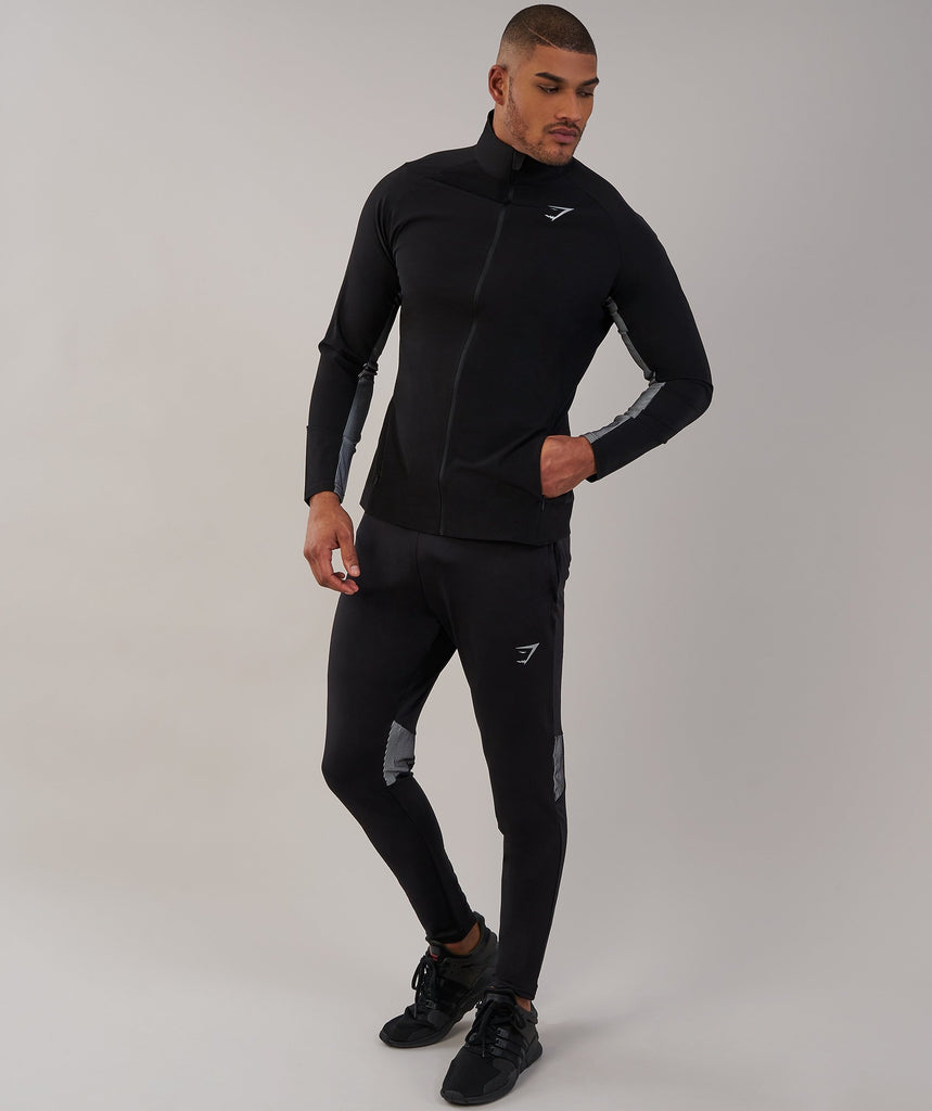 Gymshark Gravity Track Top - Black/White 1