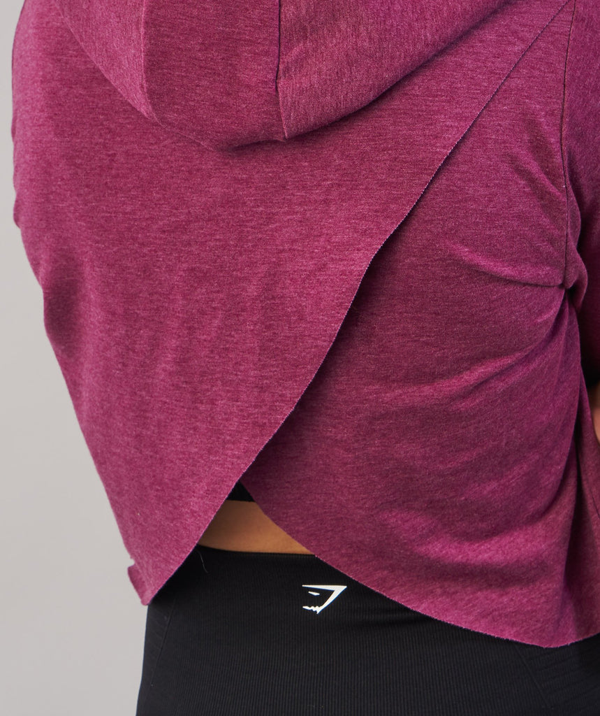 Gymshark Cross Back Hoodie - Deep Plum Marl 2