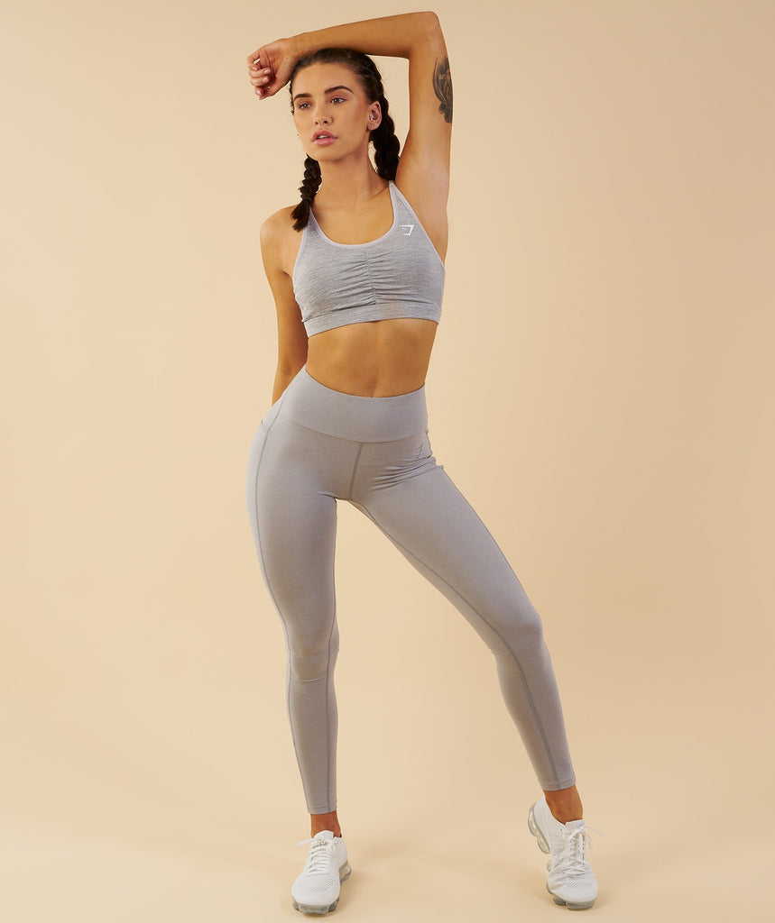Gymshark Aspire Leggings - Light Grey Marl 4