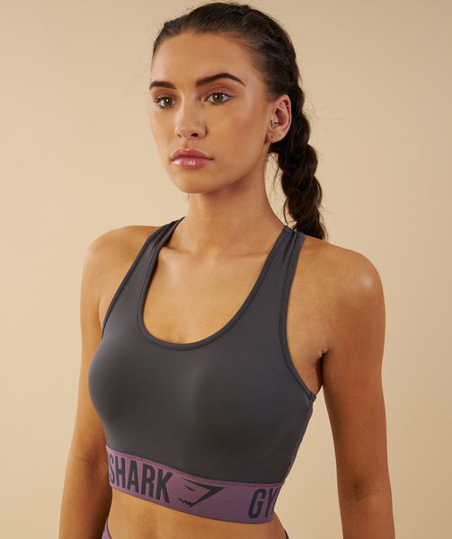 Gymshark Fit Sports Bra - Charcoal/Purple Wash 1