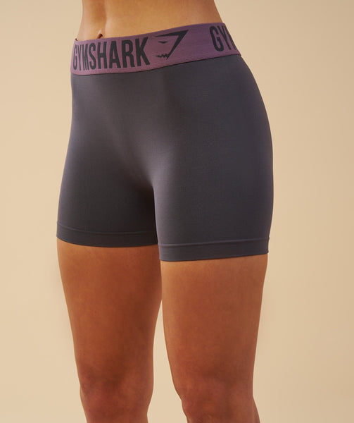 Gymshark Fit Shorts - Charcoal/Purple Wash 1