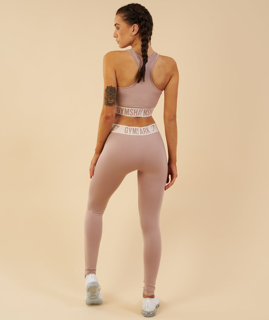 Gymshark Fit Leggings - Taupe/Sand 5