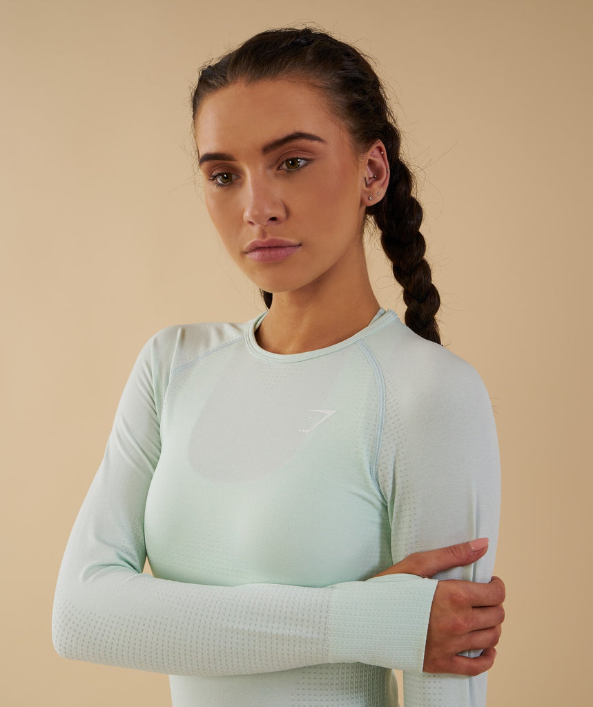 Gymshark Vital Seamless Long Sleeve Top - Sea Foam Green 2