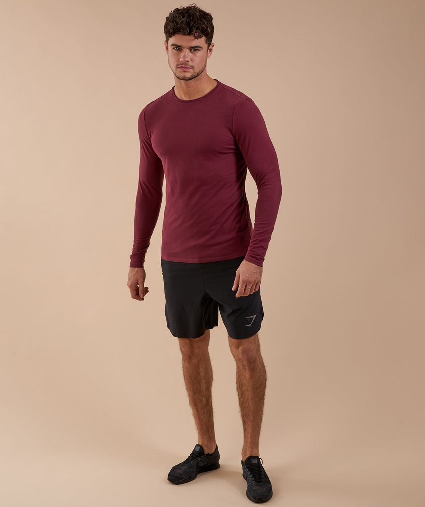 Gymshark Brushed Cotton Long Sleeve T-Shirt - Port 1