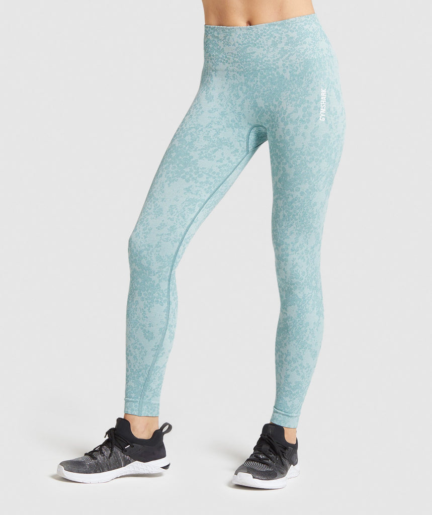 Gymshark Adapt Animal Seamless Leggings - Light Green 1