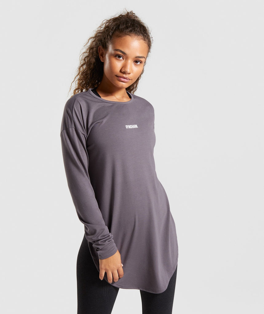 Gymshark Ark Long Sleeve Top - Slate Lavender 1