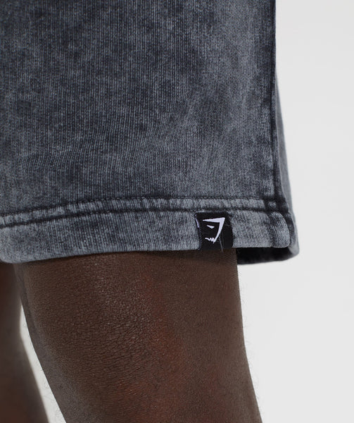 Gymshark Acid Wash Shorts - Black 4