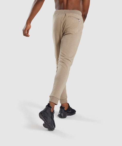 Gymshark Adapt Bottoms - Driftwood Brown Marl 1