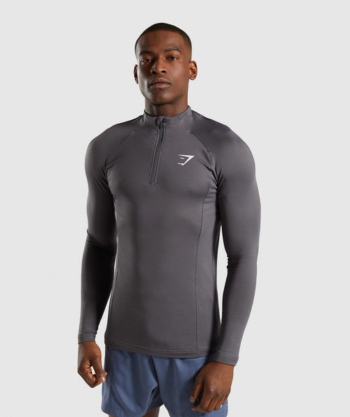Gymshark Advanced 1/4 Zip Pullover - Charcoal 4