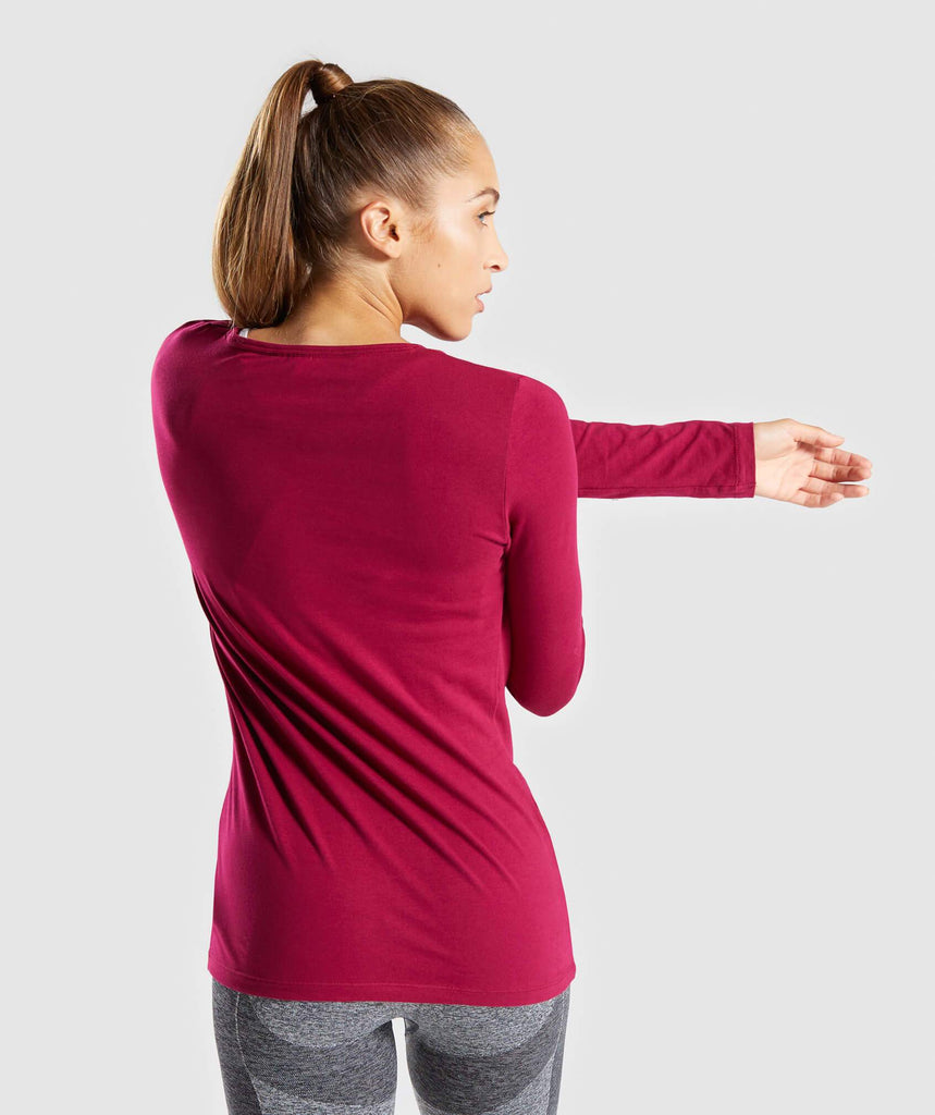 Gymshark Apollo Long Sleeve T-Shirt - Beet 2