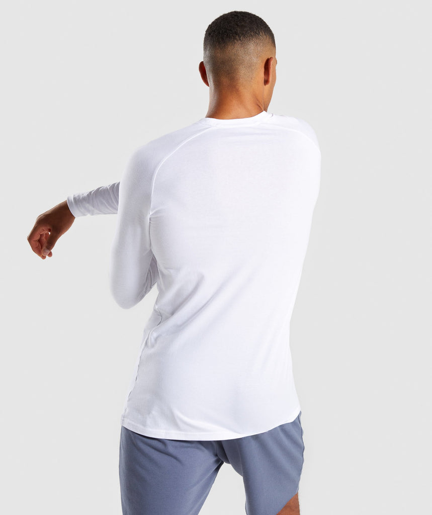 Gymshark Apollo Long Sleeve T-Shirt - White 2