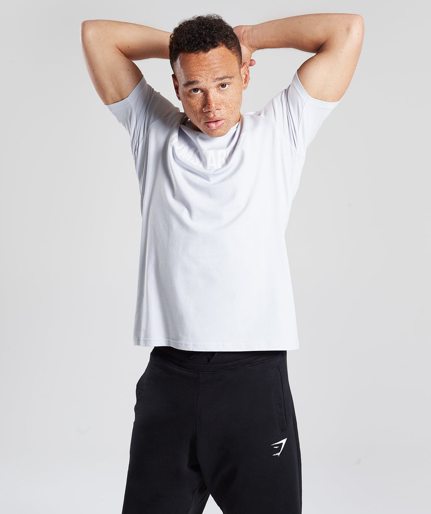 Gymshark Apollo T-Shirt - Clear Water/White 2