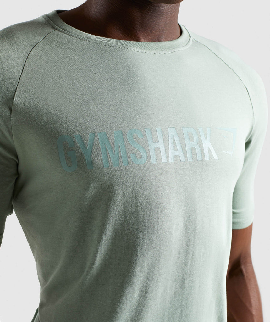 Gymshark Apollo T-Shirt - Pale Green 5