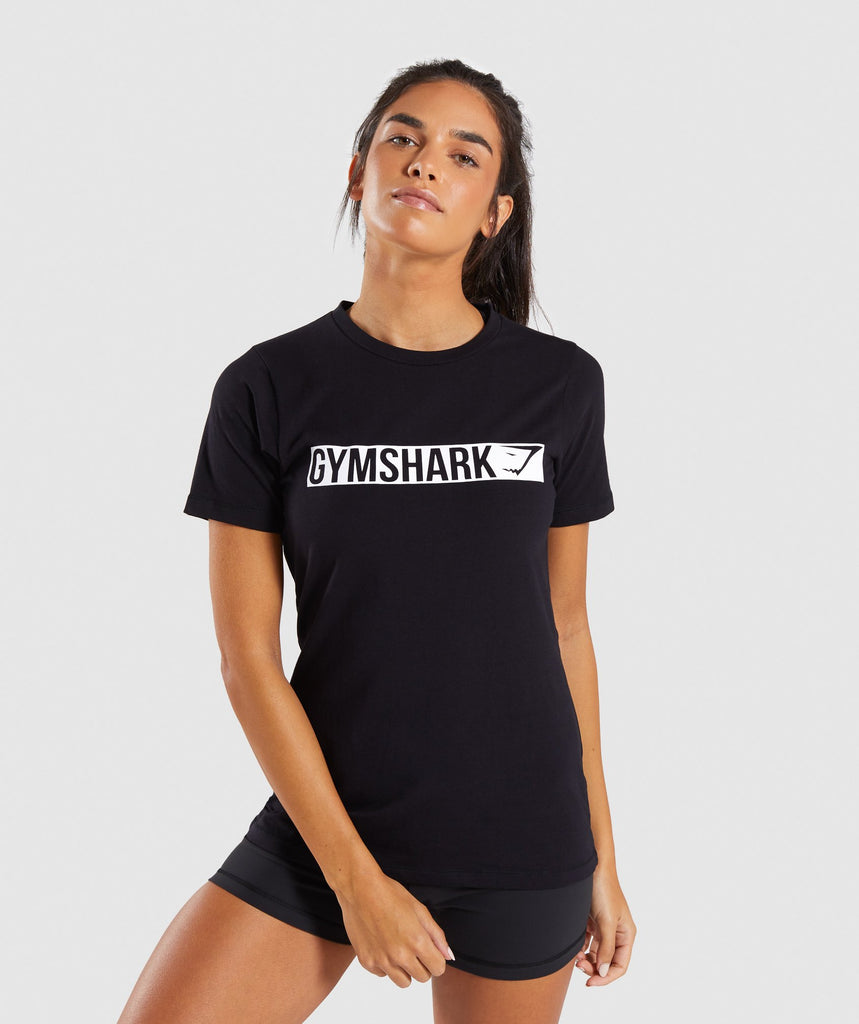 Gymshark Apollo T-Shirt 2.0 - Black/White 1