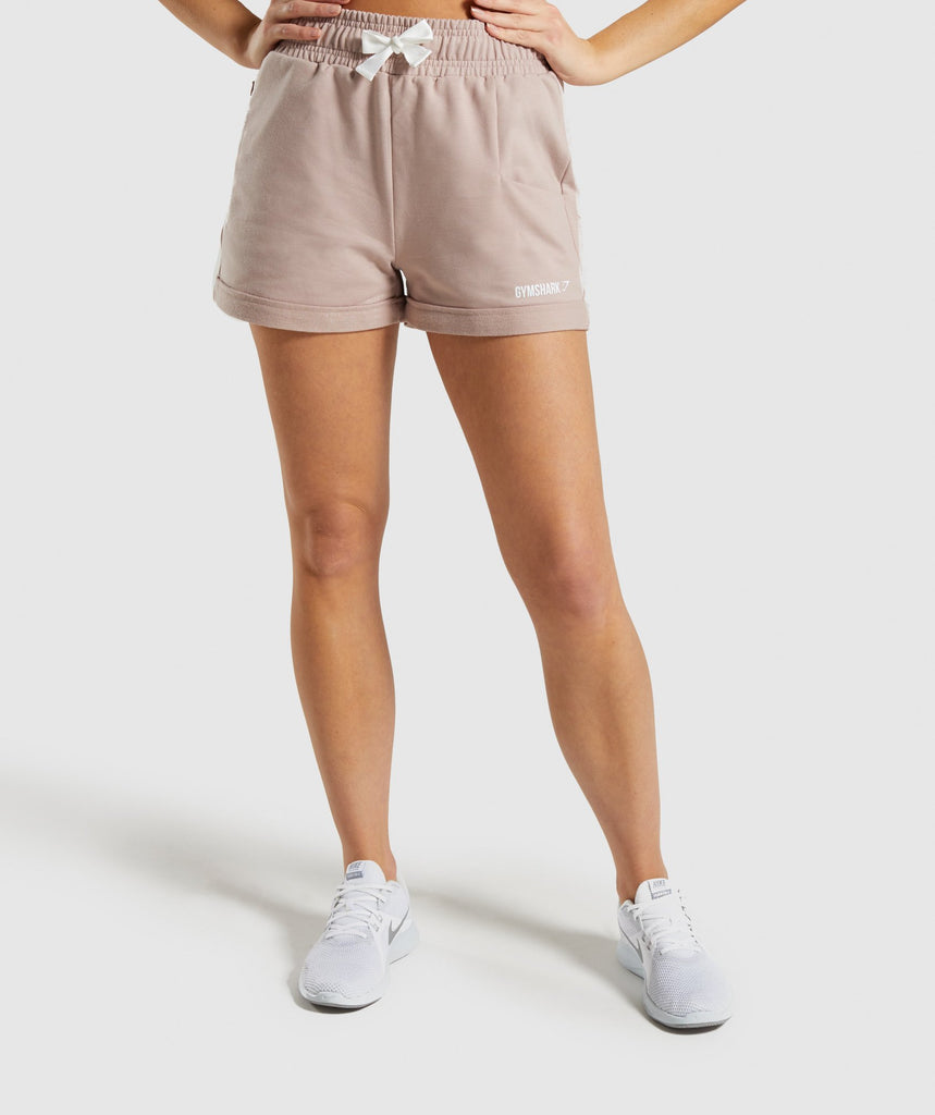 Gymshark Ark High Waisted Shorts - Taupe 1