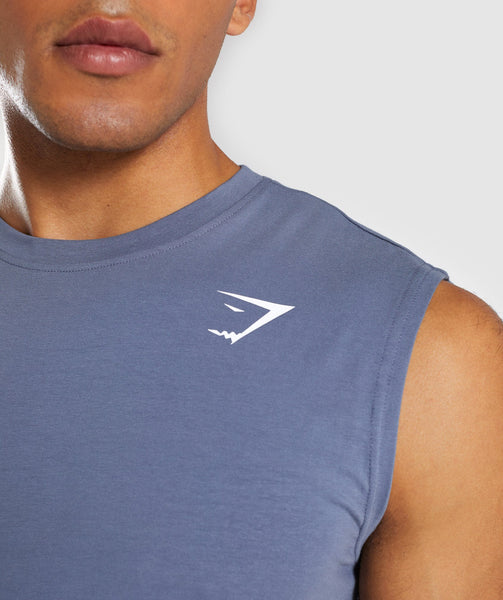 Gymshark Ark Sleeveless T-Shirt - Aegean Blue 4