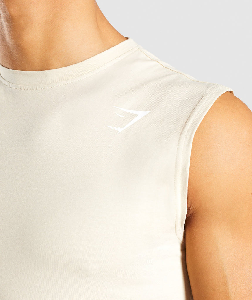 Gymshark Ark Sleeveless T-Shirt - Warm Beige 6