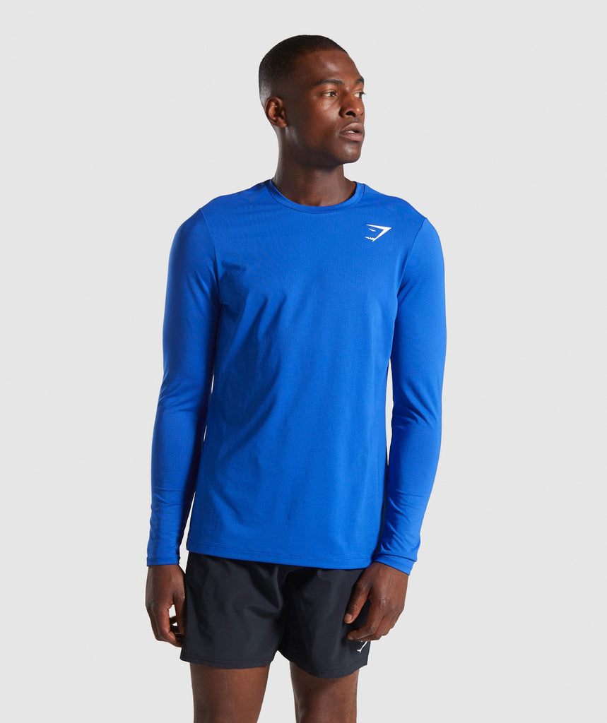 Gymshark Arrival Long Sleeve T-Shirt - Blue 1