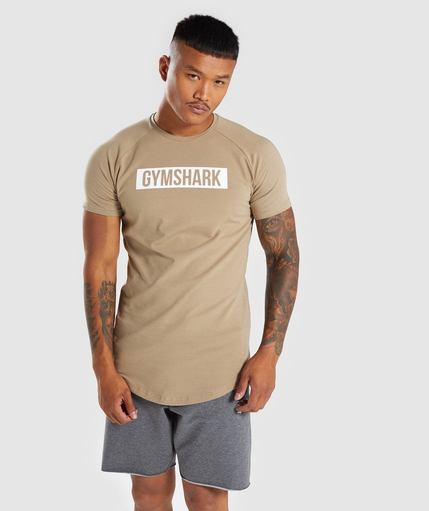 Gymshark Block T-Shirt - Driftwood Brown 1
