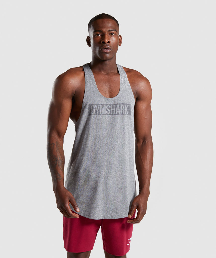 Gymshark Block Stringer - Grey Marl 1
