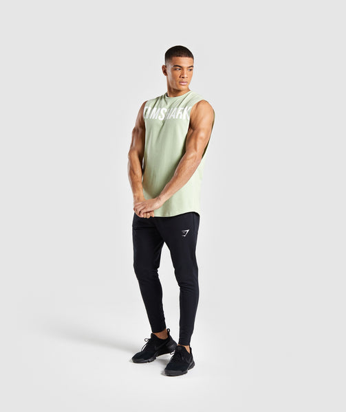 Gymshark Bold Graphic Drop Armhole Tank - Green 2
