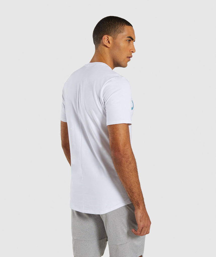 Gymshark Bold Graphic T-Shirt - White 2