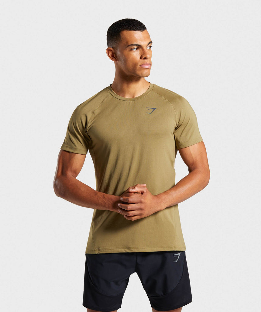 Gymshark Contemporary T-Shirt - Khaki 1
