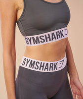 Gymshark Fit Cropped Leggings - Charcoal/Chalk Pink 12