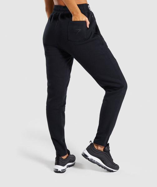 Gymshark Comfy Tracksuit Bottoms - Black 1