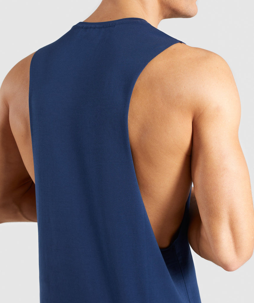 Gymshark Critical Drop Armhole Tank - Blue 6